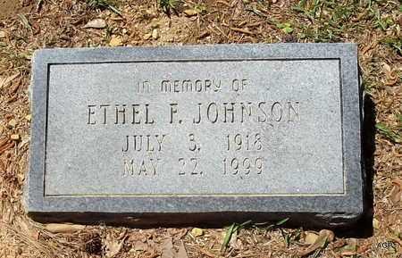 JOHNSON, ETHEL F - Lafayette County, Arkansas   ETHEL F JOHNSON - Arkansas Gravestone Photos