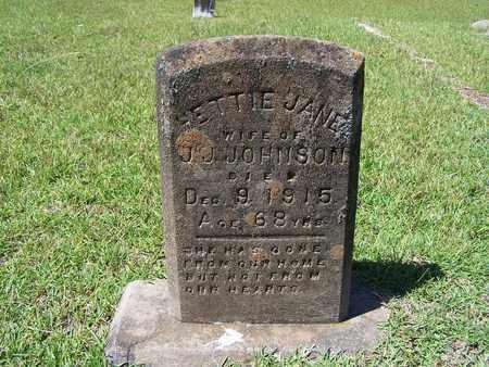 JOHNSON, HETTIE JANE - Lafayette County, Arkansas | HETTIE JANE JOHNSON - Arkansas Gravestone Photos