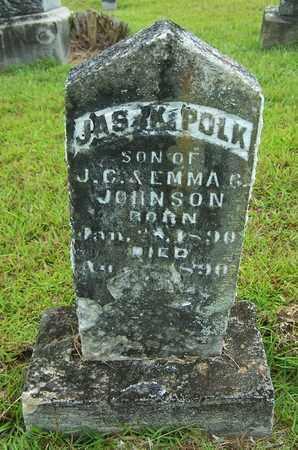JOHNSON, JAS K POLK - Lafayette County, Arkansas   JAS K POLK JOHNSON - Arkansas Gravestone Photos