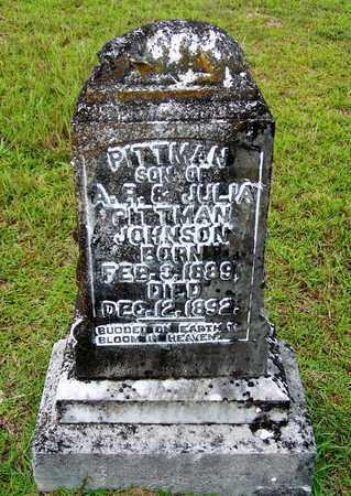 JOHNSON, PITTMAN - Lafayette County, Arkansas   PITTMAN JOHNSON - Arkansas Gravestone Photos