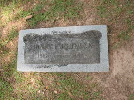 JOHNSON, SIDNEY E - Lafayette County, Arkansas | SIDNEY E JOHNSON - Arkansas Gravestone Photos