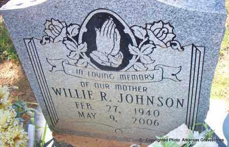 JOHNSON, WILLIE R - Lafayette County, Arkansas | WILLIE R JOHNSON - Arkansas Gravestone Photos