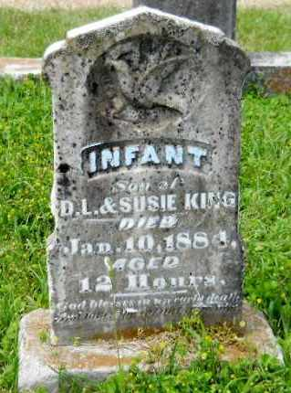 KING, INFANT SON - Lafayette County, Arkansas | INFANT SON KING - Arkansas Gravestone Photos
