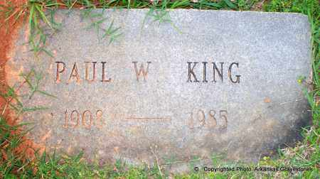 KING, PAUL W - Lafayette County, Arkansas | PAUL W KING - Arkansas Gravestone Photos