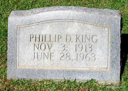 KING, PHILLIP D - Lafayette County, Arkansas | PHILLIP D KING - Arkansas Gravestone Photos