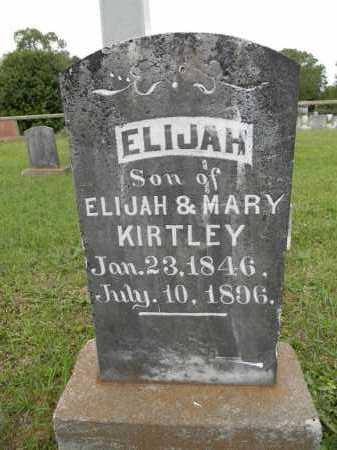 KIRTLEY, ELIJAH - Lafayette County, Arkansas | ELIJAH KIRTLEY - Arkansas Gravestone Photos