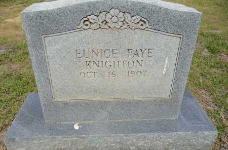KNIGHTON, EUNICE FAYE - Lafayette County, Arkansas   EUNICE FAYE KNIGHTON - Arkansas Gravestone Photos