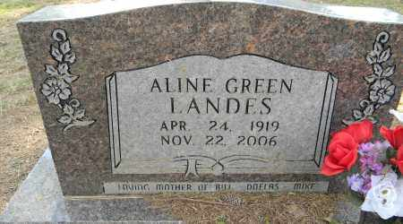 GREEN LANDES, ALINE - Lafayette County, Arkansas | ALINE GREEN LANDES - Arkansas Gravestone Photos