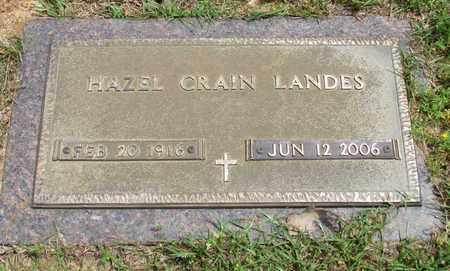 LANDES, HAZEL - Lafayette County, Arkansas | HAZEL LANDES - Arkansas Gravestone Photos