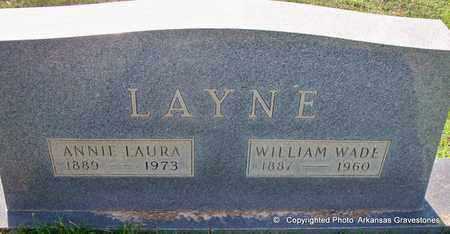 LAYNE, WILLIAM WADE - Lafayette County, Arkansas | WILLIAM WADE LAYNE - Arkansas Gravestone Photos