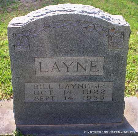 LAYNE, JR, BILL - Lafayette County, Arkansas   BILL LAYNE, JR - Arkansas Gravestone Photos