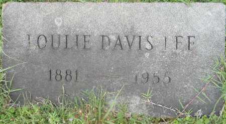 DAVIS LEE, LOULIE - Lafayette County, Arkansas   LOULIE DAVIS LEE - Arkansas Gravestone Photos