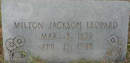 LEOPARD, MILTON JACKSON - Lafayette County, Arkansas   MILTON JACKSON LEOPARD - Arkansas Gravestone Photos