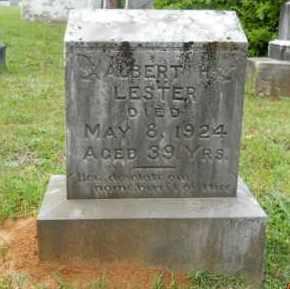 LESTER, ALBERT H - Lafayette County, Arkansas | ALBERT H LESTER - Arkansas Gravestone Photos