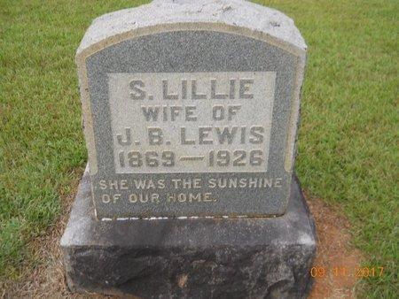LEWIS, S. LILLIE - Lafayette County, Arkansas   S. LILLIE LEWIS - Arkansas Gravestone Photos