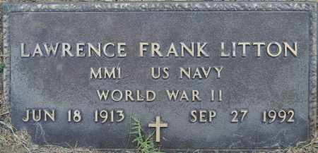 LITTON (VETERAN WWII), LAWRENCE FRANK - Lafayette County, Arkansas   LAWRENCE FRANK LITTON (VETERAN WWII) - Arkansas Gravestone Photos