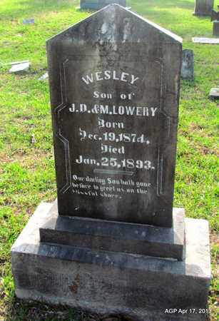 LOWERY, WESLEY - Lafayette County, Arkansas | WESLEY LOWERY - Arkansas Gravestone Photos