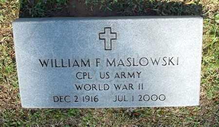 MASLOWSKI (VETERAN WWII), WILLAIM F - Lafayette County, Arkansas | WILLAIM F MASLOWSKI (VETERAN WWII) - Arkansas Gravestone Photos