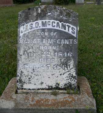 MCCANTS, JAMES O - Lafayette County, Arkansas   JAMES O MCCANTS - Arkansas Gravestone Photos