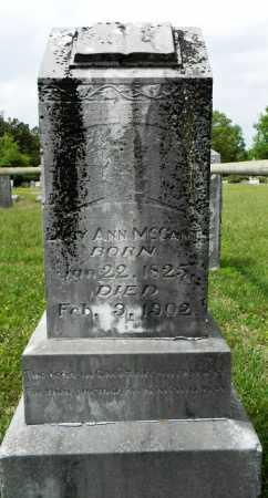 MCCANTS, LUCY ANN - Lafayette County, Arkansas | LUCY ANN MCCANTS - Arkansas Gravestone Photos