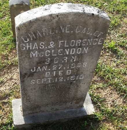 MCCLENDON, CHARLINE - Lafayette County, Arkansas   CHARLINE MCCLENDON - Arkansas Gravestone Photos