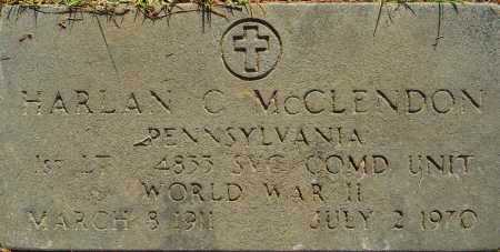 MCCLENDON (VETERAN WWII), HARLAN C - Lafayette County, Arkansas | HARLAN C MCCLENDON (VETERAN WWII) - Arkansas Gravestone Photos
