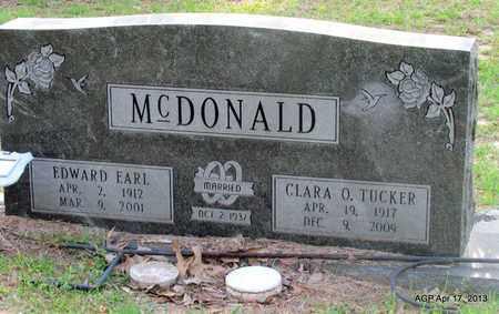 MCDONALD, EDWARD EARL - Lafayette County, Arkansas   EDWARD EARL MCDONALD - Arkansas Gravestone Photos