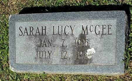 MCGEE, SARAH LUCY - Lafayette County, Arkansas   SARAH LUCY MCGEE - Arkansas Gravestone Photos