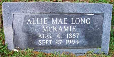 MCKAMIE, ALLIE MAE - Lafayette County, Arkansas   ALLIE MAE MCKAMIE - Arkansas Gravestone Photos