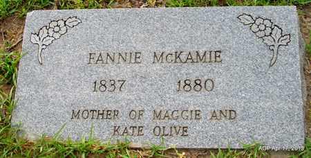 MCKAMIE, FANNIE - Lafayette County, Arkansas | FANNIE MCKAMIE - Arkansas Gravestone Photos