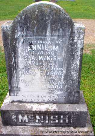 MCNISH, ANNIE M - Lafayette County, Arkansas   ANNIE M MCNISH - Arkansas Gravestone Photos