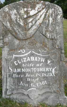 MONTGOMERY, ELIZABETH Y - Lafayette County, Arkansas | ELIZABETH Y MONTGOMERY - Arkansas Gravestone Photos