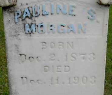 MORGAN, PAULINE S (CLOSEUP) - Lafayette County, Arkansas | PAULINE S (CLOSEUP) MORGAN - Arkansas Gravestone Photos