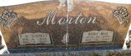 """MORTON, P D """"SHORTY"""" - Lafayette County, Arkansas   P D """"SHORTY"""" MORTON - Arkansas Gravestone Photos"""