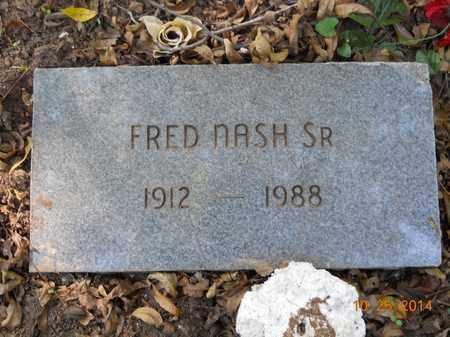 NASH, SR, FRED - Lafayette County, Arkansas | FRED NASH, SR - Arkansas Gravestone Photos