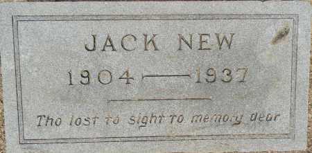 NEW, JACK - Lafayette County, Arkansas   JACK NEW - Arkansas Gravestone Photos
