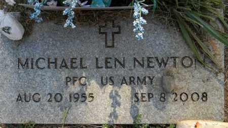 NEWTON (VETERAN), MICHAEL LEN - Lafayette County, Arkansas | MICHAEL LEN NEWTON (VETERAN) - Arkansas Gravestone Photos