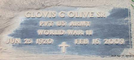 OLIVE (VETERAN WWII), CLOVIS G - Lafayette County, Arkansas   CLOVIS G OLIVE (VETERAN WWII) - Arkansas Gravestone Photos