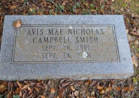 CAMPBELL, AVIS MAE - Lafayette County, Arkansas | AVIS MAE CAMPBELL - Arkansas Gravestone Photos