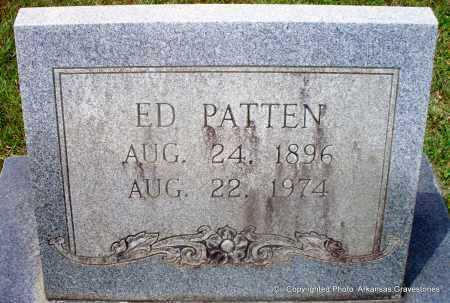 PATTEN, ED - Lafayette County, Arkansas   ED PATTEN - Arkansas Gravestone Photos