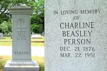PERSON, CHARLINE - Lafayette County, Arkansas   CHARLINE PERSON - Arkansas Gravestone Photos