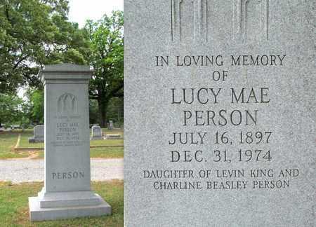 PERSON, LUCY MAE - Lafayette County, Arkansas   LUCY MAE PERSON - Arkansas Gravestone Photos