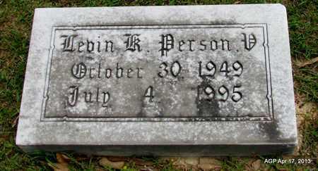 PERSON, V, LEVIN K - Lafayette County, Arkansas | LEVIN K PERSON, V - Arkansas Gravestone Photos