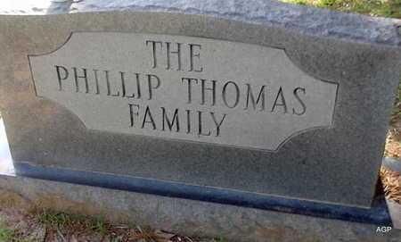 PHILLIP THOMAS FAMILY STONE,  - Lafayette County, Arkansas |  PHILLIP THOMAS FAMILY STONE - Arkansas Gravestone Photos