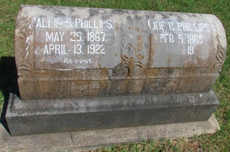 PHILLIPS, ALLIE S. - Lafayette County, Arkansas | ALLIE S. PHILLIPS - Arkansas Gravestone Photos