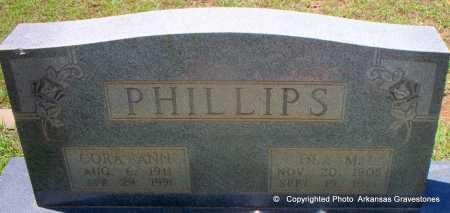 PHILLIPS, CORA ANN - Lafayette County, Arkansas   CORA ANN PHILLIPS - Arkansas Gravestone Photos