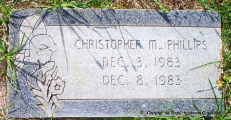 PHILLIPS, CHRISTOPHER M - Lafayette County, Arkansas | CHRISTOPHER M PHILLIPS - Arkansas Gravestone Photos