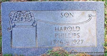 PHILLIPS, HAROLD - Lafayette County, Arkansas | HAROLD PHILLIPS - Arkansas Gravestone Photos