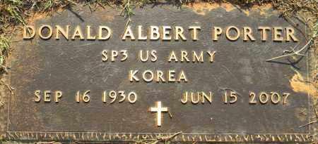 PORTER (VETERAN KOR), DONALD ALBERT - Lafayette County, Arkansas | DONALD ALBERT PORTER (VETERAN KOR) - Arkansas Gravestone Photos