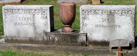 POWELL, COON - Lafayette County, Arkansas   COON POWELL - Arkansas Gravestone Photos